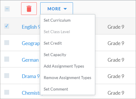 Creating and managing subjects – MySchool Support